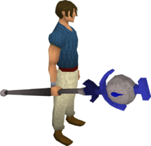 Water talisman staff equipped