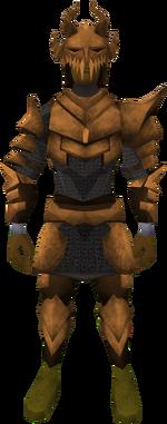 Corrupt dragon set (lg) equipped