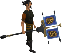 Clan vexillum equipped