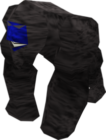 Gorilla greegree (blue) equipped