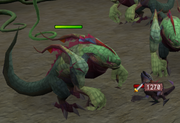 Jadinko guard killing mutated baby