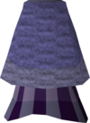 Purple elegant skirt detail