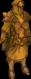 Golden warpriest of Saradomin set equipped