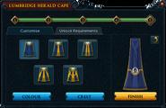 Herald cape trim selection