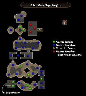 Poison Waste Slayer Dungeon map