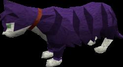 Lazy cat (purple) pet