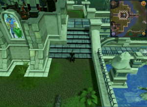 Compass clue Varrock behind Paterdomus temple