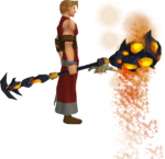 Necromancer's lava staff equipped