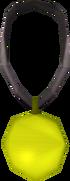 Gold amulet detail