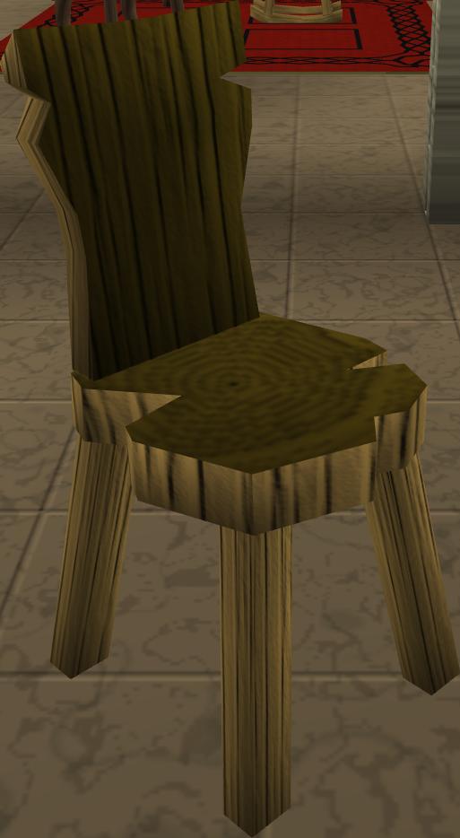 Crude wooden chair RuneScape Wiki FANDOM powered by Wikia