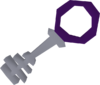 Silver key purple detail