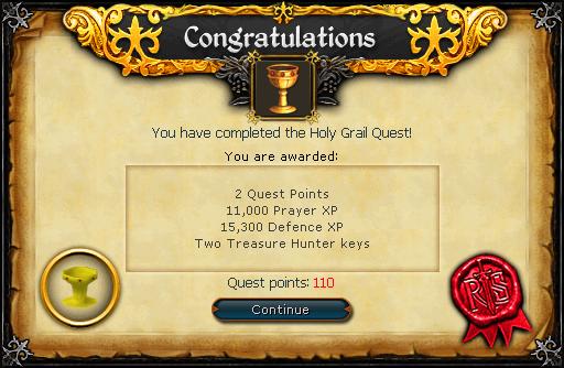 Holy Grail reward