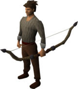 Yew composite bow equipped