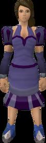 Purple elegant clothing (female) equipped