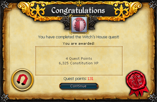 Witch's House reward