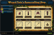 Wizard Finix's Runecrafting Shop