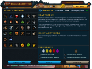 Treasure Hunter Heart of Ice interface