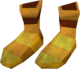 Golden mining boots detail