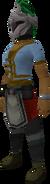 Rune heraldic helm (Misthalin) equipped