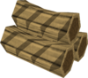 Special teak log detail