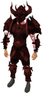 Malevolent armour set (blood) equipped