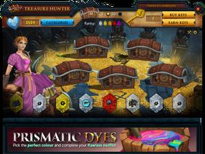 Treasure Hunter opening chest