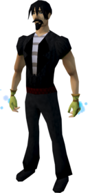 Spellcaster gloves (yellow) equipped