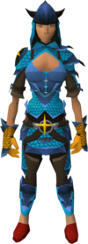 Saradomin dragonhide blessed set equipped (female)