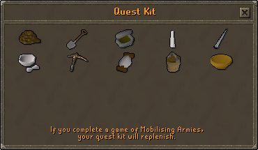 Quest kit (medium) contents