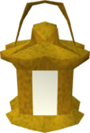 Lit bug lantern detail