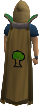 Retro woodcutting cape equipped