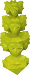 Idol of many heads detail