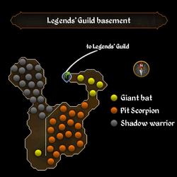 Legends' Guild basement map