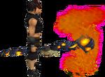 Skeletal lava battlestaff equipped