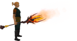 Mystic fire staff equipped