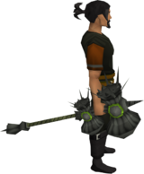Torag's hammer equipped