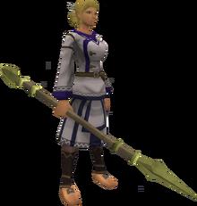 Zephyrium spear equipped