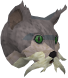 Wily cat (white and blue) chathead