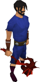 Dragon warhammer equipped