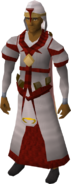 Zamorak vestments equipped