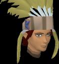 Feather headdress (yellow) chathead