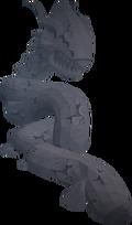 Loarnab's petrified head