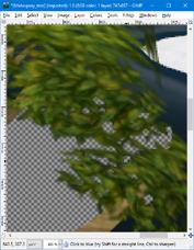 GIMP - blur tool example2