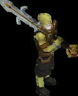 Lucky Saradomin godsword equipped