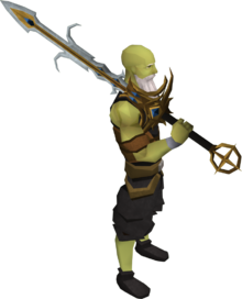 Lucky Saradomin godsword equipped