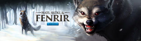 Hati, Skoll and Fenrir head banner