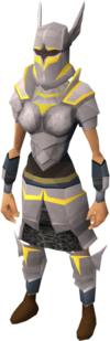 Initiate armour set (sk) equipped