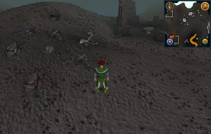 Compass clue Deep Wilderness west of Mage Arena