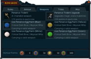 Barbarian Assault rewards interface (Weapons)