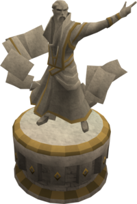 Artisan magic statue
